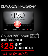 KiTARO Bistro of Japan dining rewards